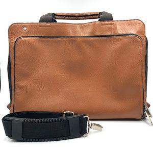 Jack Spade Leather Briefcase Brown Laptop Bag AB34